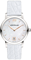 Montblanc 108765 Women's Star Classique Lady Stainless Steel Alligator Leather Strap Watch, Mother of Pearl