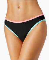 California Waves Contrast-Trim Hipster Bikini Bottoms