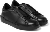 Valentino - Rockstud Leather Slip-on Sneakers