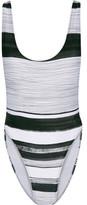 Norma Kamali Marissa Striped Swimsuit