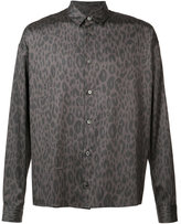 Robert Geller leopard print shirt - men - Cotton - 46
