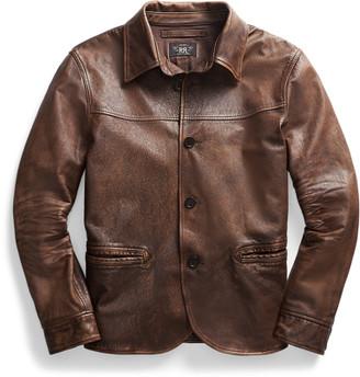 Ralph Lauren Leather Car Coat
