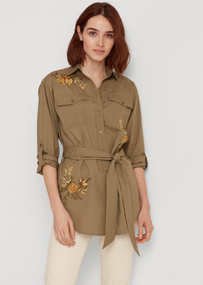 Ralph Lauren Floral Belted Cotton Shirt