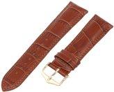 Hirsch 010281-70-20 20 -mm Genuine Leather Alligator Embossed Watch Strap
