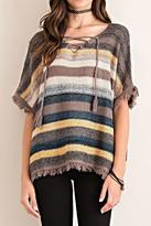 Entro Fringed Poncho Sweater
