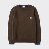 Paul Smith Boys' 2-6 Years Khaki Wool-Cotton Zebra Logo Sweater