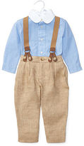 Ralph Lauren Boy Shirt, Pant & Braces Set