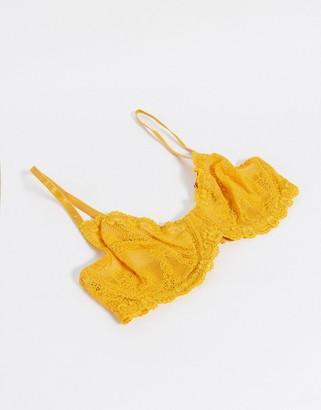 Topshop lace bra in orange sunshine