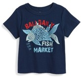Tea Collection Infant Boy's Fish Market Graphic T-Shirt
