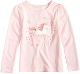 Epic Threads Mix and Match Unicorn-Print Long-Sleeve T-Shirt, Little Girls (4-6X), Created for Macy's