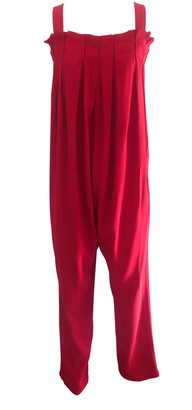 Drop-Crotch Jumpsuit Red Carol