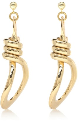 Tohum Design Bonda 22-kt gold-plated earrings