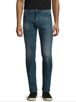 Fendi Cotton Whiskered Slim Fit Jeans