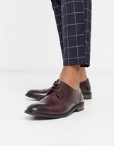 Moss Bros brogue derby shoe in burgundy