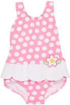 Florence Eiseman Petal-Skirt Polka-Dot One-Piece Swimsuit, Size 2-4