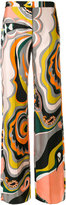 Emilio Pucci printed wide leg trousers