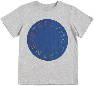 Stella McCartney Logo Printed Organic Cotton T-Shirt