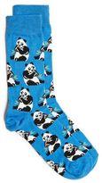 Topman Blue Panda Motif Socks