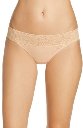 Tommy John Cool Cotton & Lace Thong