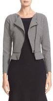 Armani Collezioni Zigzag Stripe Knit Moto Jacket