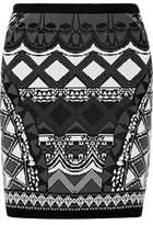 Camilla Intarsia-Knit Mini Skirt