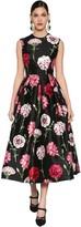 Dolce & Gabbana Flower Printed Silk Mikado Midi Dress