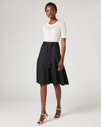 Jigsaw Linen Belted Skirt