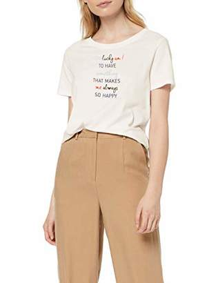 S'Oliver Women's 14.904.32.4881 T - Shirt, Off-16 (Size:)