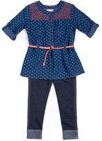 Little Lass 2-pc. Heart Top and Jeggings Set - Preschool Girls 4-6x