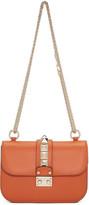 Valentino Orange Small Lock Bag
