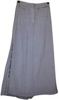 Ann Demeulemeester Grey Cotton Skirt for Women