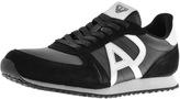 Giorgio Armani Jeans Logo Trainers Black