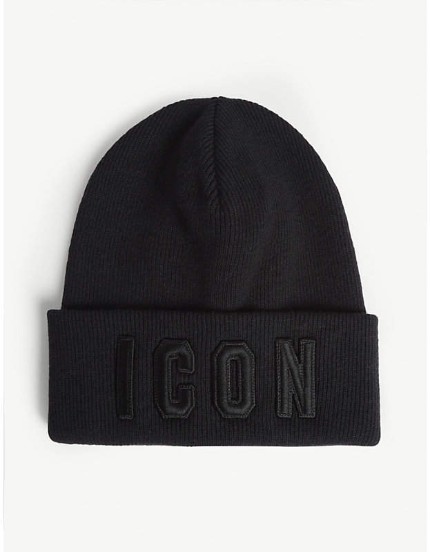 29c524c4d Acc Icon embroidered wool beanie