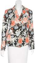 Celine Floral Print Double-Breasted Blazer