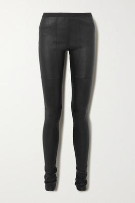 Rick Owens Leather Leggings - Black
