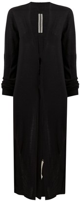 Rick Owens Long-Length Virgin Wool Cardigan