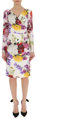Dolce & Gabbana Ortensie Printed Floral Dress