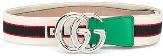 Gucci Kids Double G logo buckle belt