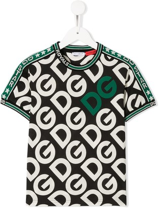 Dolce & Gabbana Kids all-over printed logo T-shirt