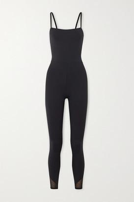 Eres Calais Lace-trimmed Stretch Jumpsuit - Black