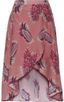 Vix Birds June Printed Cotton And Silk-blend Wrap Skirt - medium