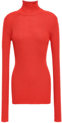 Jil Sander Ribbed Wool And Silk-blend Turtleneck Sweater