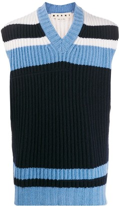 Marni colour-block knitted vest