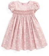 Luli & Me Infant Girl's Floral Print Smocked Dress