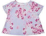 Versace Floral Striped Top