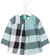 Burberry checked top - kids - Cotton - 6 mth