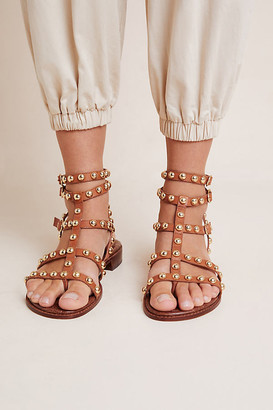 Sam Edelman Evan Studded Sandals By in Brown Size 7 W