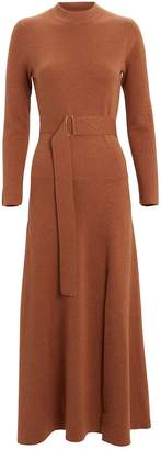 Nicholas Mock Neck Wool-Blend Dress
