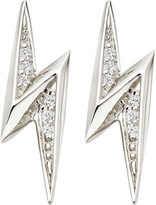 Astley Clarke Lightning Bolt sterling silver and white sapphire stud earrings