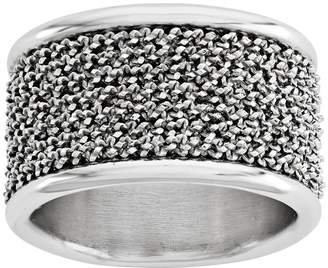 Italian Silver Wire Wrapped Cigar Band Ring